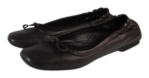 Prada Leather Logo Ballet Flats