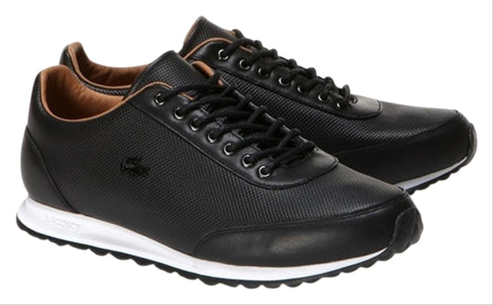 f4491f1c2 Lacoste Black Helaine Runner Low-rise Sneakers In Pique Leather Platforms