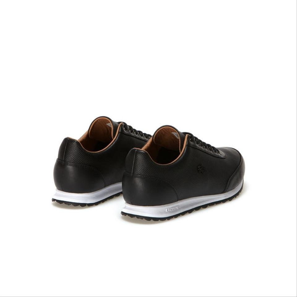 acc8da25c7bb7 Lacoste Black Helaine Runner Low-rise Sneakers In Pique Leather ...