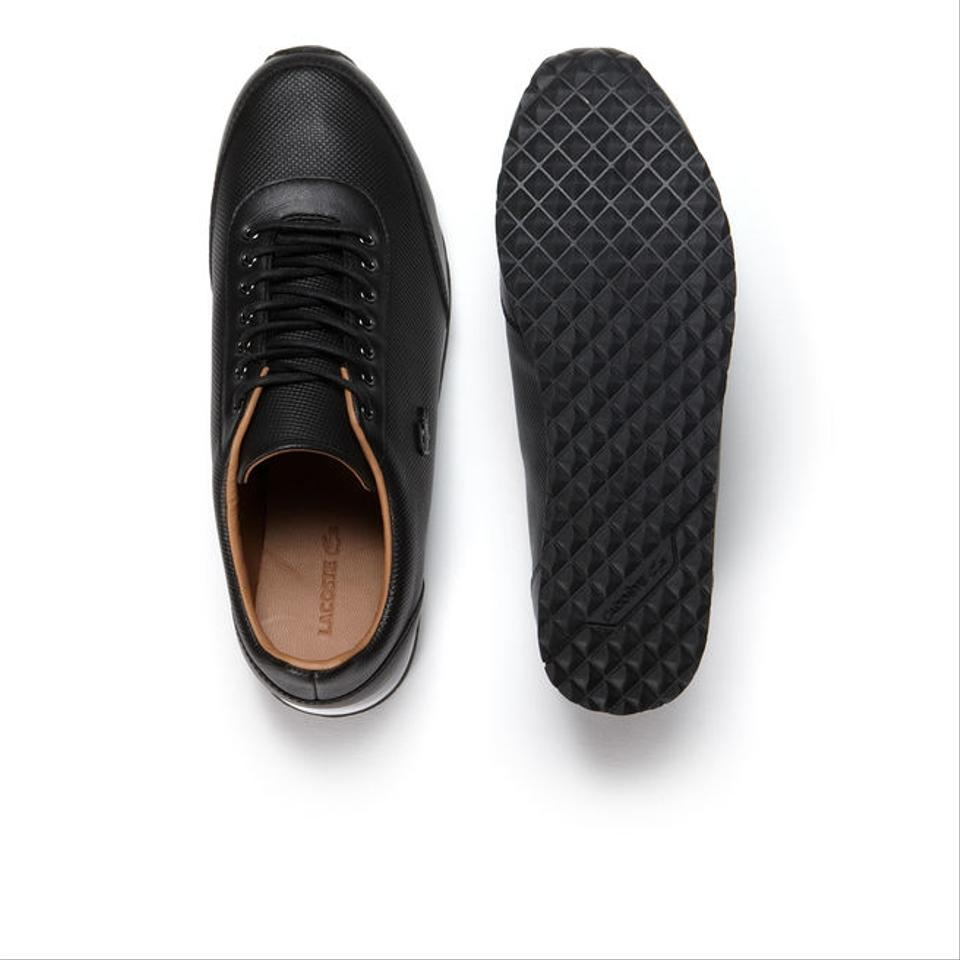 3f00efe03 Lacoste Black Helaine Runner Low-rise Sneakers In Pique Leather ...