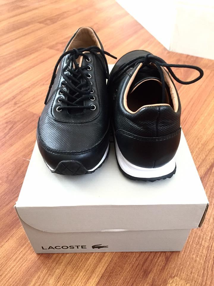 1b92b8ef90106 Lacoste Black Helaine Runner Low-rise Sneakers In Pique Leather Platforms  Size US 5 Regular (M