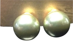 Replica Collection Replica Collection Pearl Style Bead Clip-on Earrings New with Tags Green