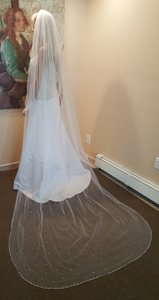 Beautiful Cathedral Veil 1 Tier With Crystals