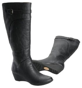 Softspots Fall Wedge Comfortable Black Boots