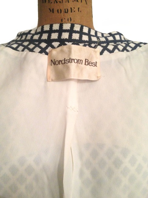 Nordstrom Vintage Mod Coat 60s Mod Coat Dress navy white Jacket