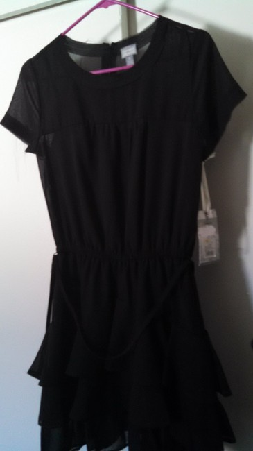 Converse short dress Black Sheer Ruffle Slip on Tradesy