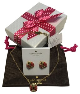 Kate Spade Kate Spade New York Necklace and stud earrings set Garden Party Ladybug