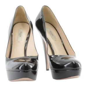 Prada Patent Leather Patent Leather Leather Black Pumps