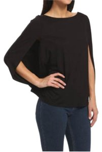 Three Dots New With Tags Short Sleeve Flowy Tunic Top Black