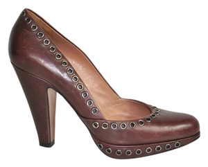 ALAÏA Alaia Leather Grommet Accents Size 36 In Box Brown Pumps