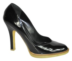 Gucci Patent Leather Size 6b In Box Black Pumps