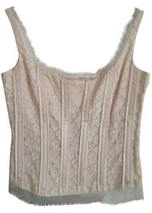 Gianni Bini Corset Lace Top ivory