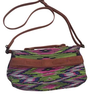 Twelfth St. by Cynthia Vincent Clutch Foldover Striped Cross Body Bag