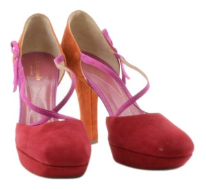Kate Spade Suede Suede Red, Pink and Orange Pumps