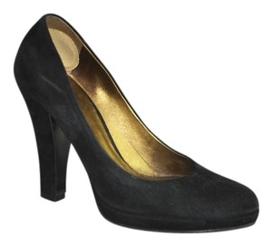 Miu Miu Suede Round Toe Size 36 In Box Black Pumps