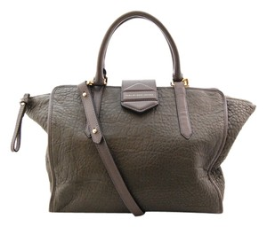 Marc Jacobs Leather Tote Satchel in Grey