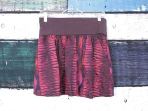Urban Outfitters Bdg Pink Foldover Waistband Flare Skirt Purple, Pink