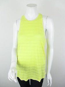 Bella Luxx Anthropologie Striped Racerback Shirt S Top Yellow