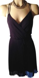 Akiko Racer-back Wrap Pleated Dress