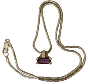 Lagos Lagos Caviar Amethyst & Diamond Pendant Necklace