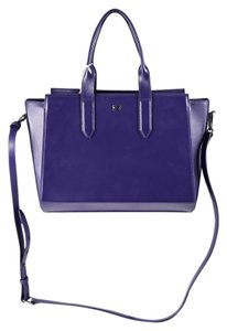 Halston Hertiage Leather Baby Handle Satchel in Violet