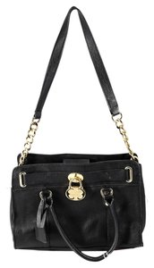 Emma Fox Cambridge Leather Satchel in Black