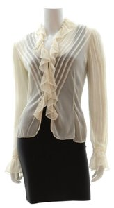 Ralph Lauren Collection Silk Top Cream