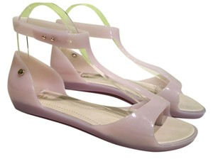 Melissa Jelly Rubber T-strap Beige Sandals