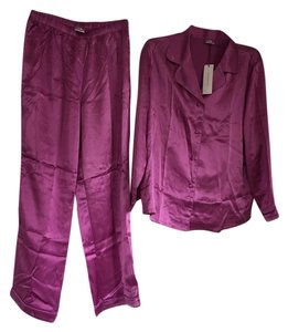 Fishers Finery Fishers Finery 100% Silk Pajamas in Radiant Orchid