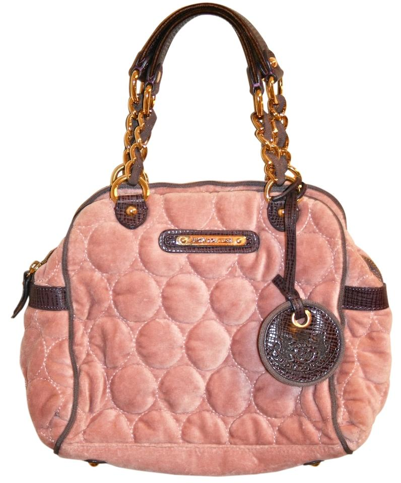 Juicy Couture Quilted Circles Darling Handbag Pink Purple Velour ... 4035683c3