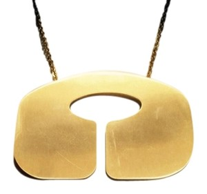 DOMA RETRO GOLD Plated Statement Necklace