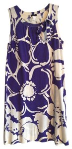 J.Crew short dress Purple and white on Tradesy