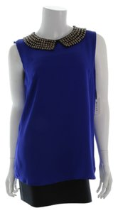 MILLY Silk New With Tags Size 6 Top Cobalt Blue
