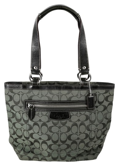 Preload https://img-static.tradesy.com/item/12935908/coach-mini-forest-green-canvasleather-tote-0-1-540-540.jpg