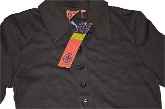Item - Coconut Brown 3/4 Sleeve Polo S Logo Buttons Tee Shirt Size 6 (S)