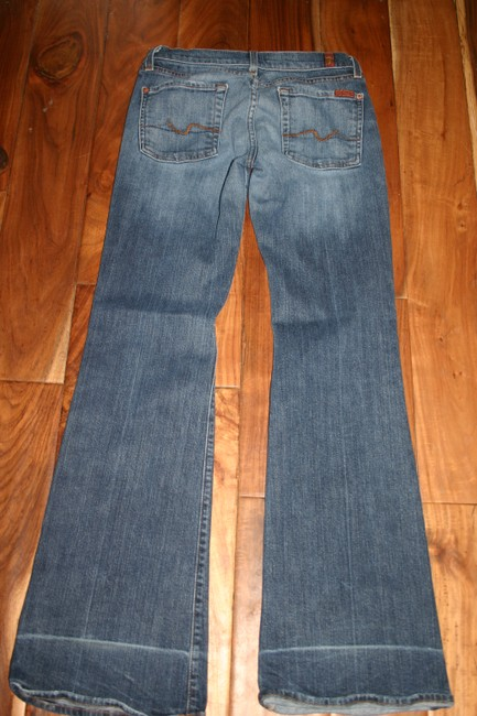 7 For All Mankind Flare Leg Jeans-Medium Wash Image 3
