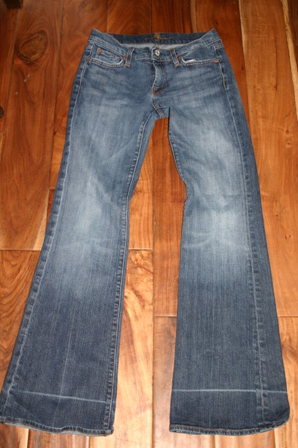7 For All Mankind Flare Leg Jeans-Medium Wash Image 4