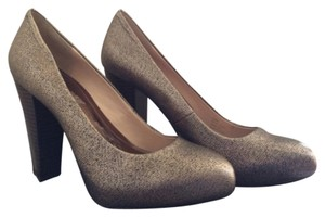 Calvin Klein Metallic bronze black wood Platforms