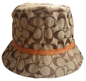 Coach Coach Vintage Leather Trim Bucket Hat P/S