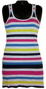 French Connection short dress Multi-White/blue/pink/yellow stripes Multi-colored on Tradesy
