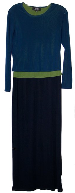 Maxi Dress by Laundry Maxi Layered Blue Green Black Full Length