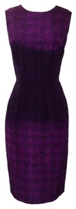Oscar de la Renta short dress Purple on Tradesy