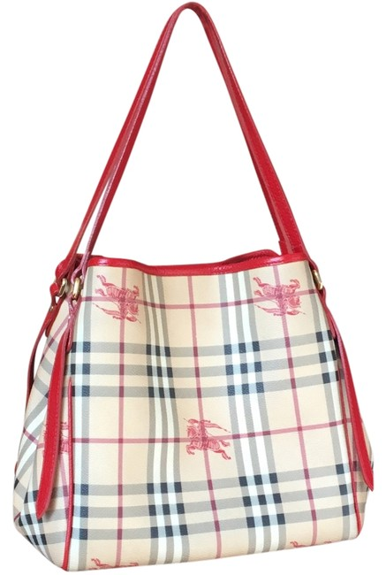 Item - Purse with Leather Seldom Seen Tan and Black and Red Equestrian Print Pattern; Canvas Interior; Trim Clutch Detachable Inside Satchel