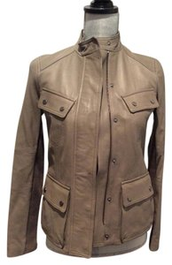 Vince Dark cream Leather Jacket