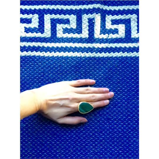 Other Statement Green Stone Adjustable Ring Image 3