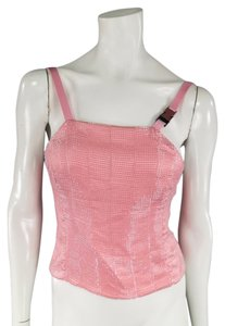 Prada Beaded Silk Satin Top Pink