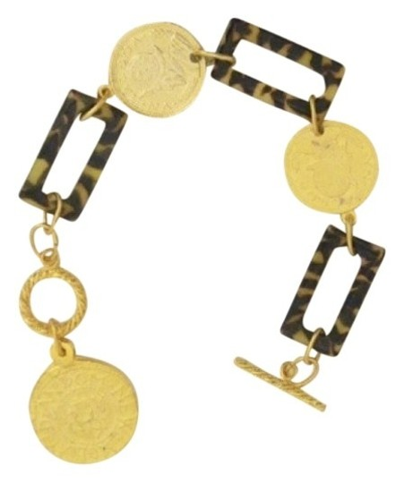 Susan Shaw Tortoise and gold coin bracelet