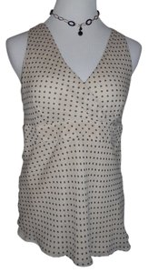 INC International Concepts Top Beige Polka Dots