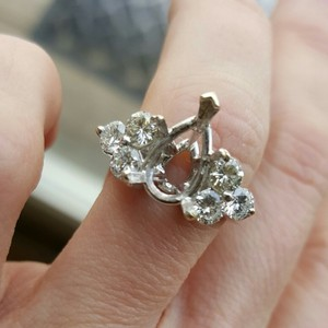 1c Total 6 Side Diamond Wedding/engagement Setting