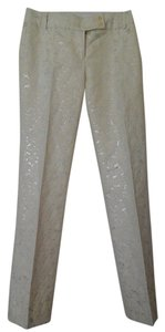 J.Crew Straight Pants Cream/Silver